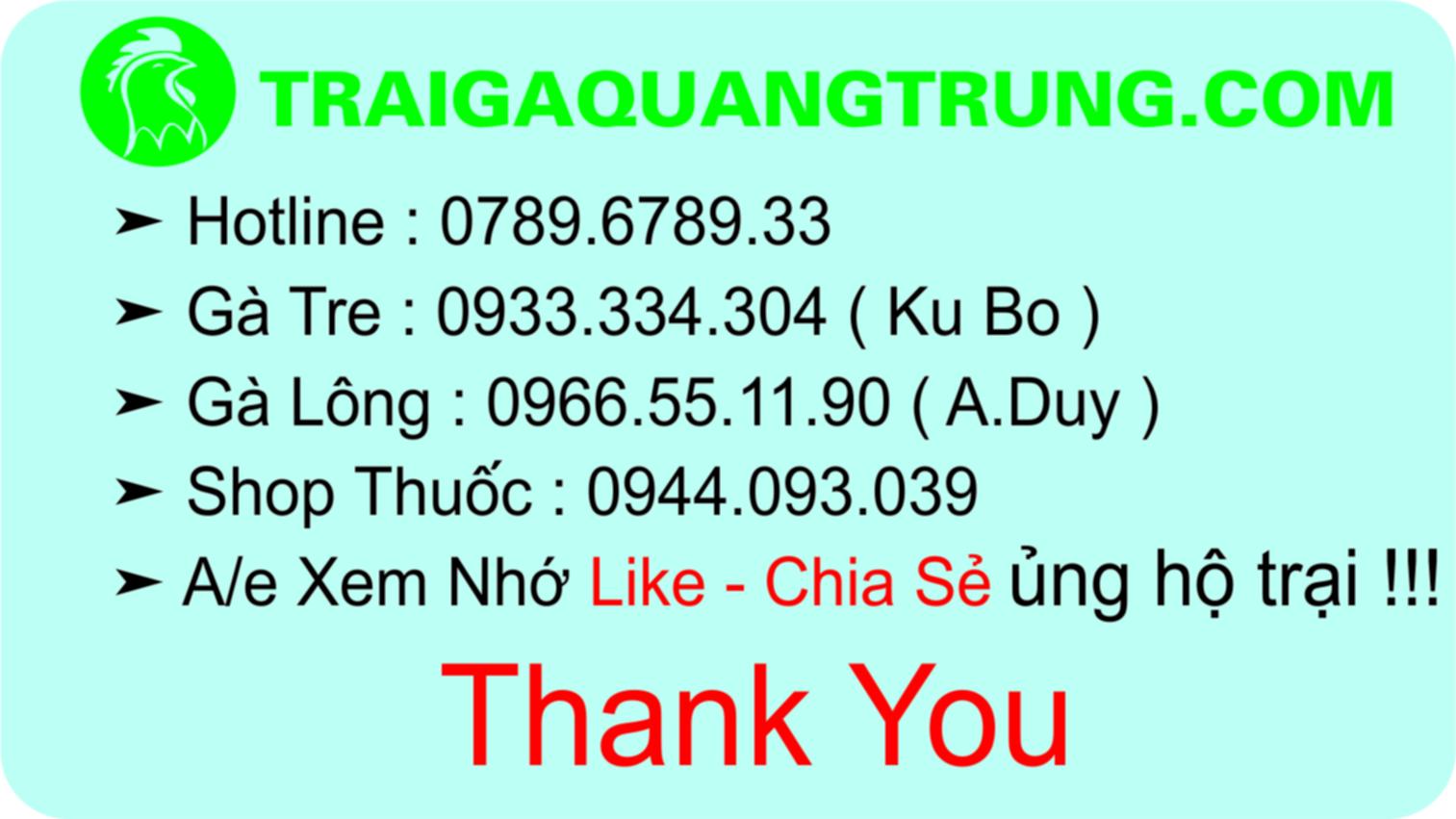 Top 10 Gà Tre Tầm Trung A/e LH : 0789.6789.33